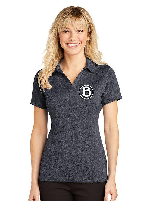 Buckeye Sport-Tek Ladies Graphite Heather Contender™ Polo