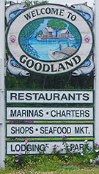 Goodland sign TenThousand Islands