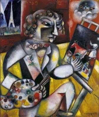 Chagall au Musée avec les petits-enfants