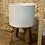 "Thumbnail: white ceramic pot on wooden stand 7"""