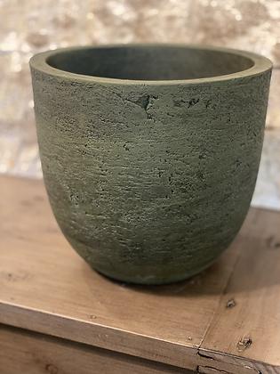 """cement textured pot forest green 7.5"""""""