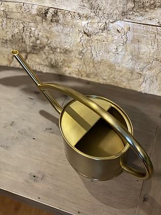 gold watering can metal 1liter