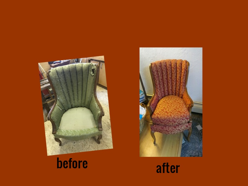 channel chair before and after