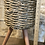 """Thumbnail: basket planter on wooden stand 8.5"""""""