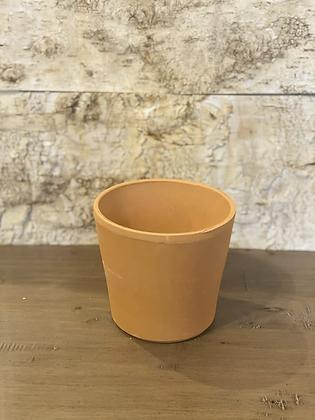 "terracotta cylindrical pot 4.5"""