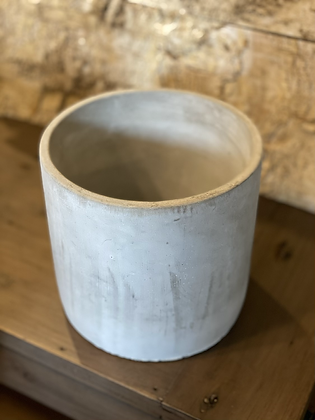 """cement pot cylindrical 6.5"""""""
