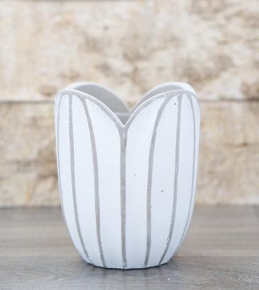 tulip cement pot (tall)