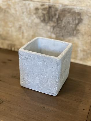 """cement pot cube 4"""""""