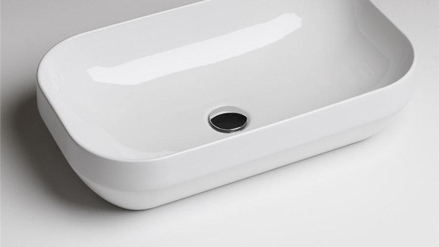 Umywalka AXA 60x35 Decus nablatowa biała