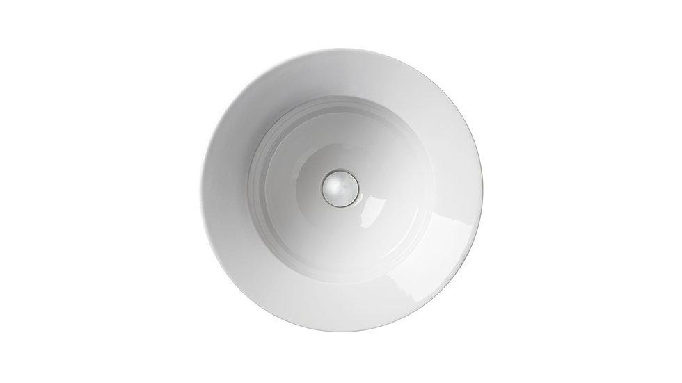 Umywalka Kracklite średnica 48 cm biała