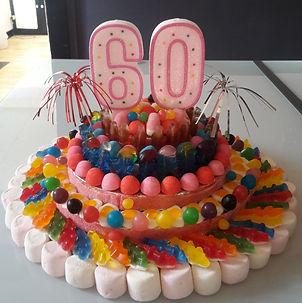 Gateau bonbon 60 ans