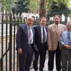 In London with Ambassador Yossi Ben-Aharon, Prof. Shumel Moreh, myself and a man from Iraq that I forgot this name.