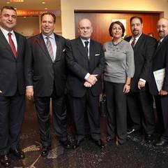 L-R, Turkish Consul; Member of the ASF Board; Deputy Mayor of Madrid; Member of the ASF Board, S. Alfassa; Stan Urman, ASF Director and an ASF Board Member