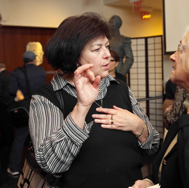 Marcia, a world-expert in Greek and Romanoite Jewry, speaking with Dr. Jane Gerber