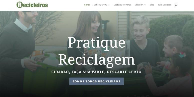 Site Recicleiros - É conosco