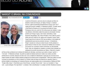 """""""Margô"""" é Brasil na Comunidade"""