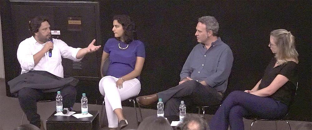 Herlon Oliveira (Agrusdata). Manuela Maluf (FGVces), Caio Penido (GTPS) e Thaís Fontes (Rabobank Brasil)