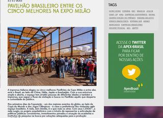 Pavilhão brasileiro entre os cinco melhores na EXPO Milão