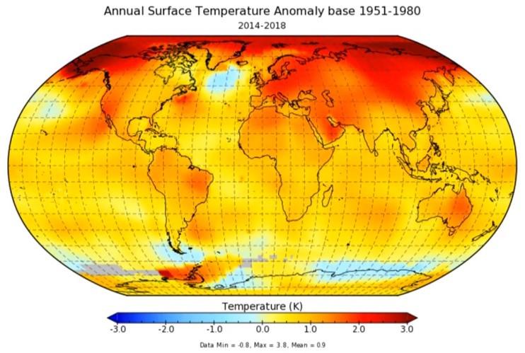 O impactante mapa do aquecimento global | AFP - Portal É conosco