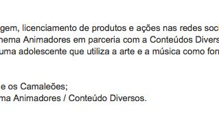 """Cinema Animadores e Conteúdo Diversos lançam projeto transmídia """"Zica e os Camaleões"""""""