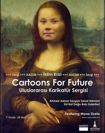 """Cartaz da exposição """"Cartoons for Future"""" - Portal É conosco"""