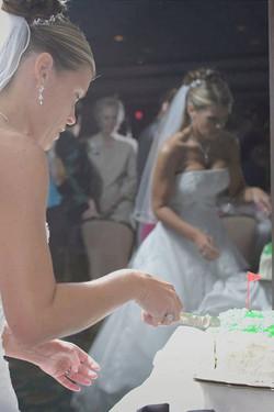 Bride Cuts the Wedding Cake