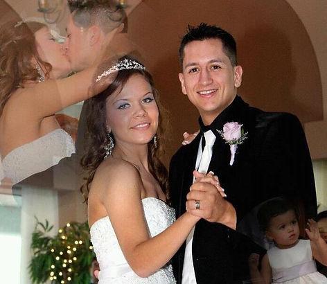 bride & groom dancing at their wedding