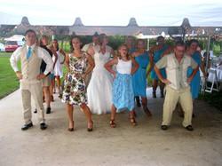 Dancing Outside To Wedding Djs