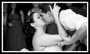 Kissing Bride & Groom