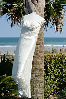Wedding Dress Outside In Jacksonville Beach Florida
