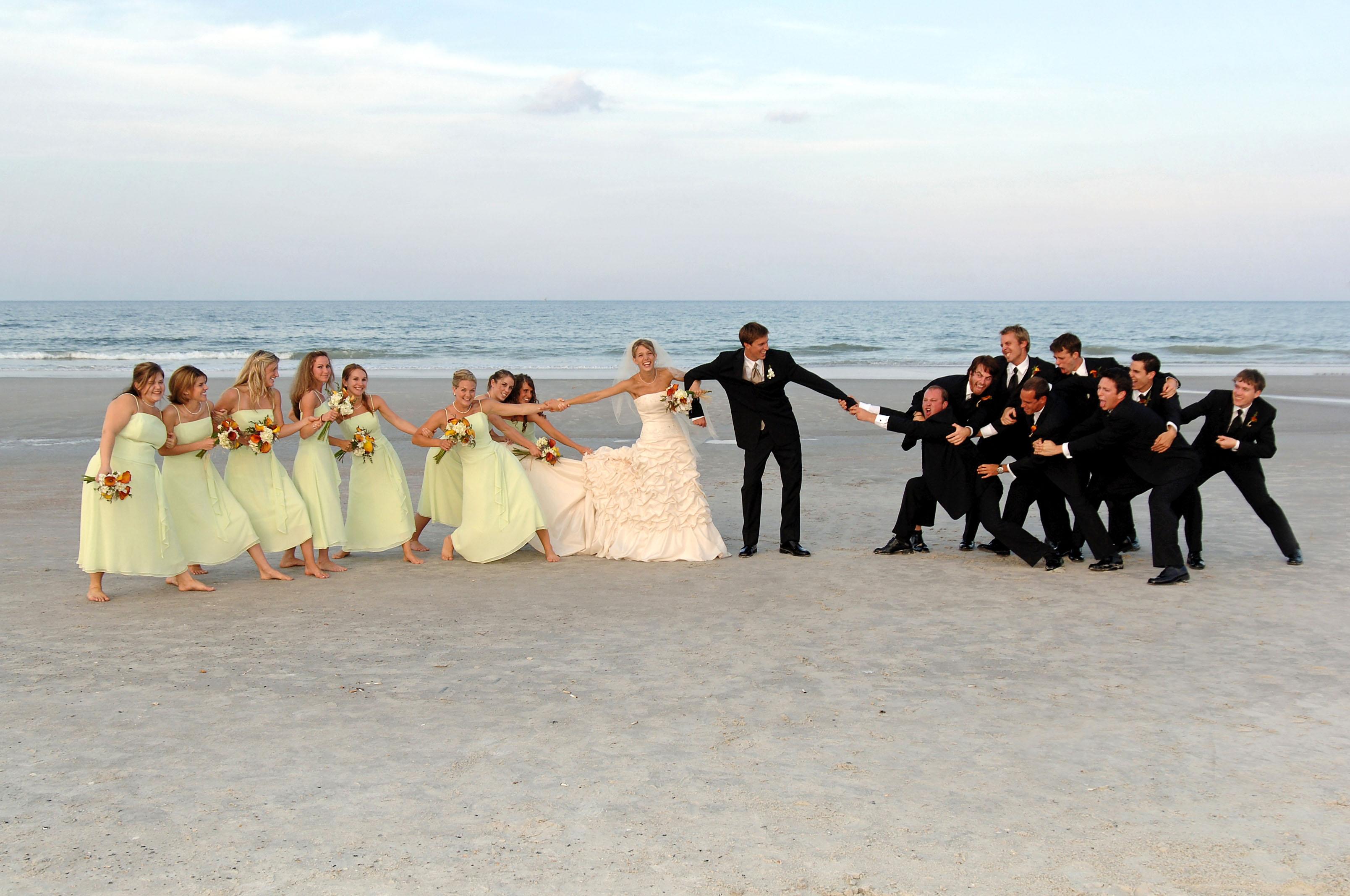 Wedding Tug Of War!