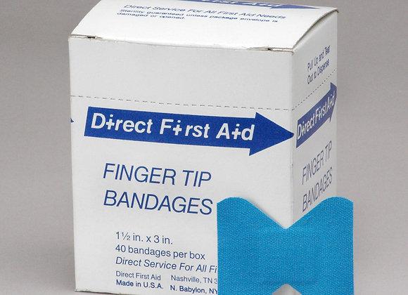 Finger tip Bandages, 40ct, Blue