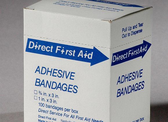 "1"" x 3"" inch Strip Bandage, 100ct, Neutral"