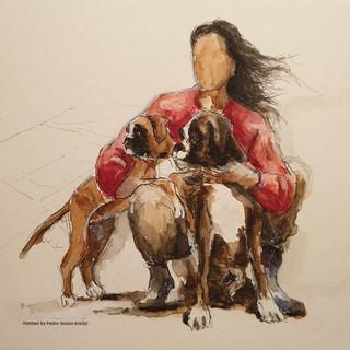 Almadinaks Uspeh Garantirovan, Ultra Ukrainian Bel-canto and me  Painted by Pedro Sousa Araújo, 2019