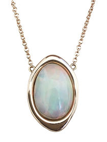 Custom rose gold and opal pendant necklace