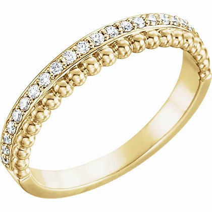 Beaded Diamond Stacking Band