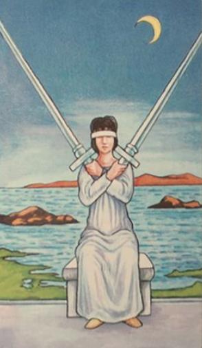 two of swords, tarot, inspiration, minor arcana, reading