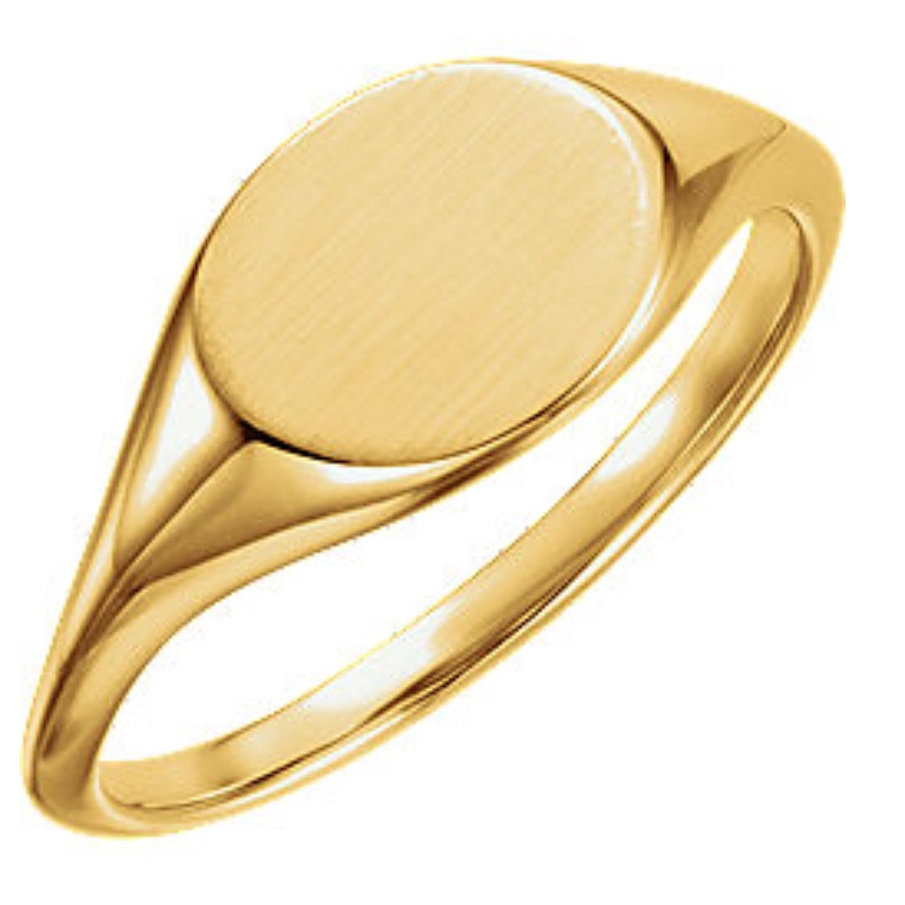 signet ring lady's custom jewelry yellow gold personal gift for her san francisco