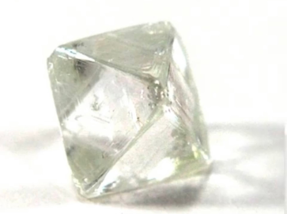 rough diamond crystal mined natural
