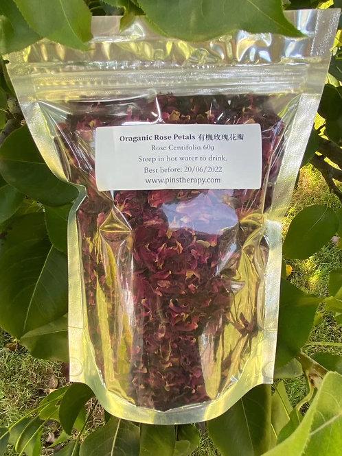 Organic red rose petals(有機玫瑰花瓣)