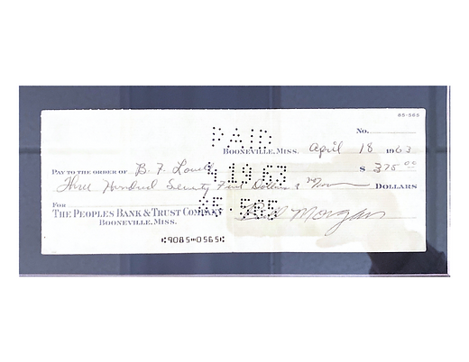 Bill Morgan First Loan Check.png