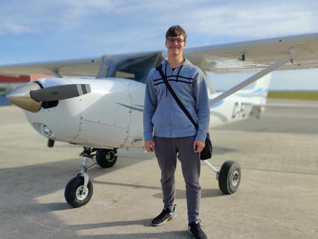 Cadet Soars above COVID-19 to Earn His Pilot's License