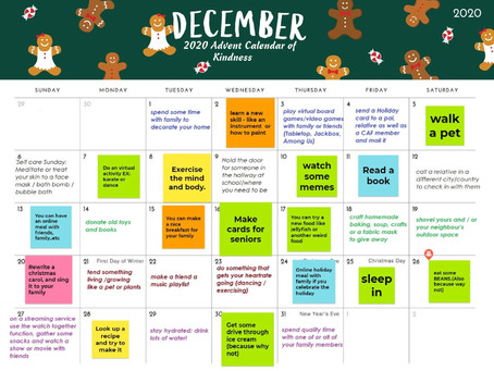Post Expo Activities: Advent Calendar of Kindness / CAF Holiday Cards
