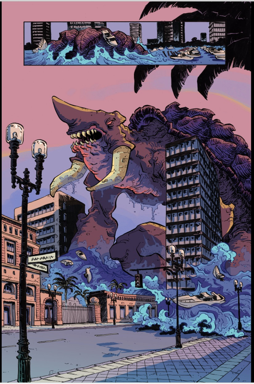 Kaiju Score, Page 21, Rem Broo, Aftershock Comics