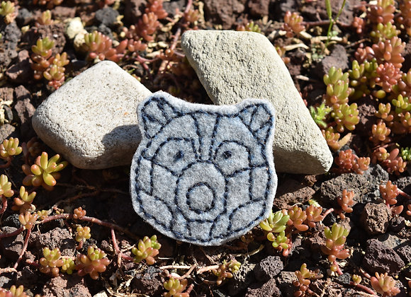 Broche Ours marine