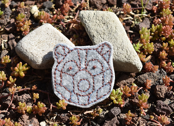 Broche Ours rose