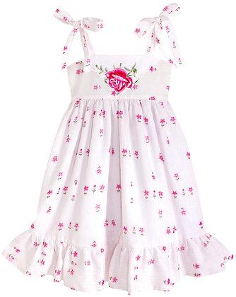 Kids 6y: Dimity Floral Dress - Pink Rose