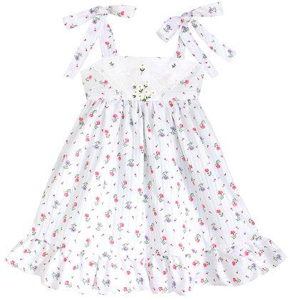 Kids 2T: Dimity Floral Dress - Daisies