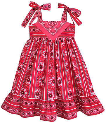 Parisienne Red Paisley Dress