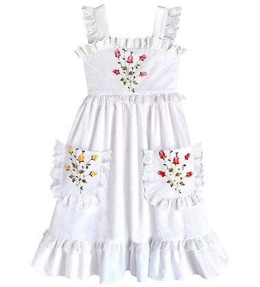 Kids 10y: Heirloom Handkerchief Dress - Tulip Garden
